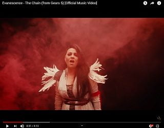 Evanescence Walk Through Fire in New Video for Cover of 'The Chain'