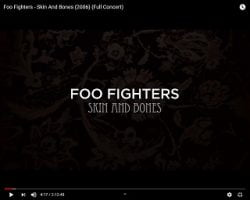 """Foo Fighters Release """"Skin and Bones"""" Concert For Free"""