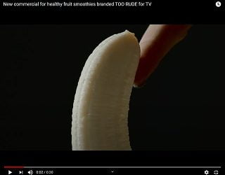 Smoothie Ad Sexualizes Fruit, Deemed Too Racy For TV