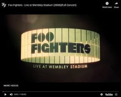 Foos Streaming Wembley Show