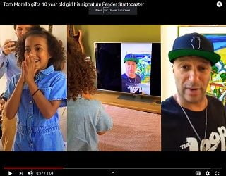 Tom Morello Surprises 10-Year-Old Fan With Guitar