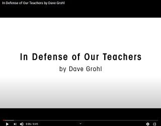 Dave Grohl Comes To Teachers' Defense