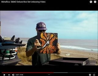 Robert Trujillo unboxes the S&M2 Deluxe Box Set