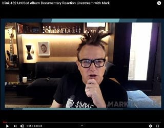 Blink 182's Mark Hoppus Watches Blink 182 Doc For The First Time