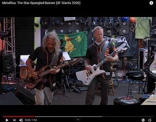 Metallica Plays National Anthem At Giants vs Rockies Game