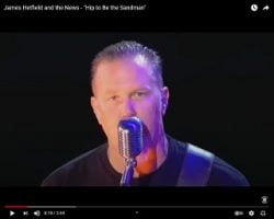 """Mash-up: James Hetfield and the News – """"Hip to Be the Sandman"""""""