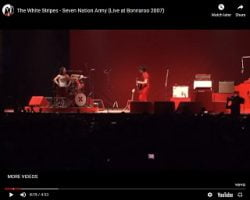 White Stripes Share Vid From Bonnaroo Performance