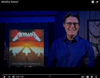 "Metallica performs ""Battery"" on Colbert"