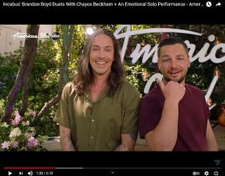 """Incubus Singer Brandon Boyd Duets With """"American Idol"""" Contestants"""