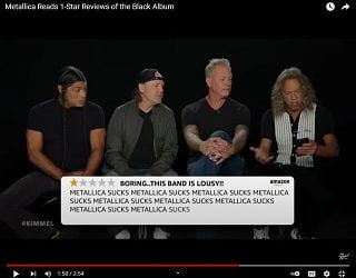 """Metallica Read One-Star Reviews/Perform On """"Jimmy Kimmel Live"""""""