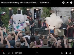 Dave Grohl Cracks Up Performing With Dancing Mascots